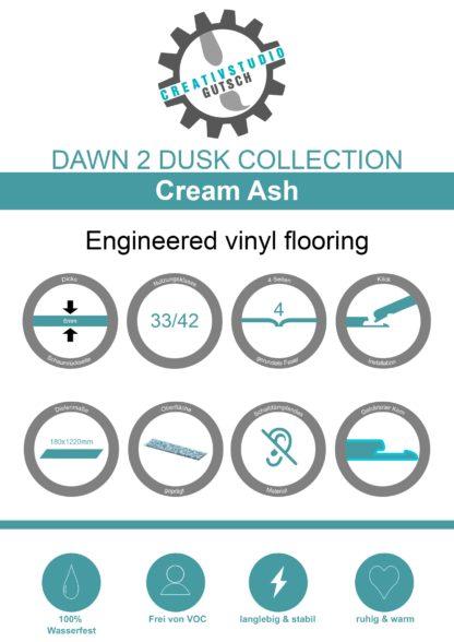 Cream Ash Label