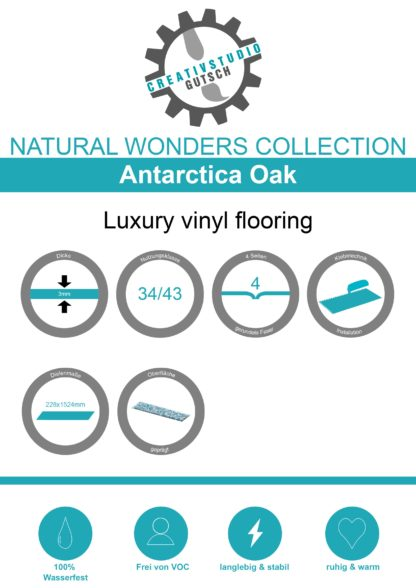Antarctica Oak Label