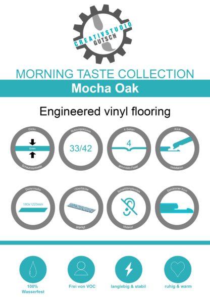 Mocha Oak Label