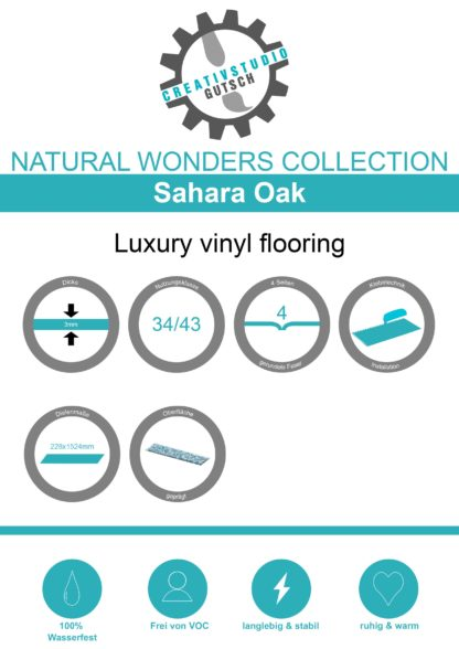 Sahara Oak Label