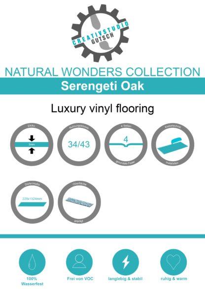 Serengeti Oak Label