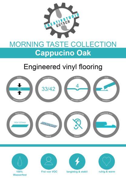 Cappuccino Oak Label
